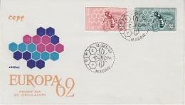 Europa Cept 1962 Spain 2v FDC (F5688C) - 1962