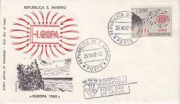 Europa Cept 1962 San Marino 1v  FDC (F5688D) - 1962