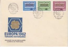 Europa Cept 1962  Portugal 3v  FDC (F5688E) Ca Lisboa - 1962