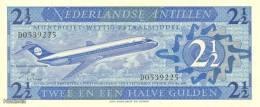 (B0527) NETHERLANDS ANTILLES, 1970. 2½ Gulden. P-21a. UNC - Netherlands Antilles (...-1986)