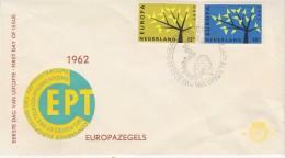 Europa Cept 1962 Netherlands 2v FDC (F5688F) - 1962