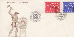 Europa Cept 1962 Greece 2v FDC  (F5688N) - 1962