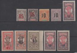Martinique, Yvert N° 78/88 * (sauf Le 85)