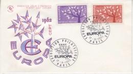Europa Cept 1962 France 2v FDC (F5688P) - 1962
