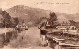 CPA ANNECY - LE PORT ET LES BATEAUX - Annecy