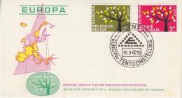 Europa Cept 1962 Belgium  2v FDC (F5688S) - 1962