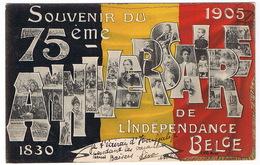 BELGIQUE  Souvenir Du 75 ème ANNIVERSAIRE De L'indépendance 1830-1905 - Belgio