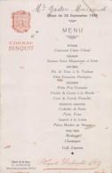 ST SULPICE LAURIERE  MENU 24 SEPT 1938 HOTEL DE LA GARE - France