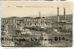 - 26 - TIMGAD - Capitole Et Propylées Vue Du Temple Du Génie, Peu Courante, Non écrite, TTBE, Scans. - Algerije