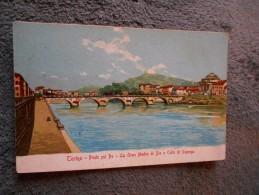Cpa Torino Turin Ponte Sul Po  La Gran Madre Di Dio E Colle Di Superga - Ponts