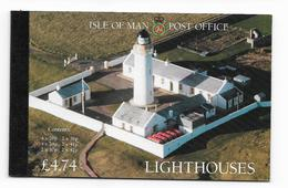 1996 MNH Man, Booklet, Lighthouses, Postfris** - Isola Di Man