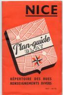 NICE - Plan-Guide BLAY - Plan De La Ville Et Répertoire Des Rues - Prix 80 Fr. ( Avant 1960 ) - Cartes Géographiques
