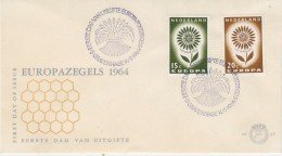 Europa Cept 1964 Netherlands 2v FDC (1F5690D) - 1964