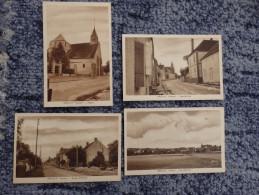 YONNE - NEUILLY - Lot De 4 Cartes - Vue Générale + Grande-Rue + Route D'Aillant + Eglise - Zonder Classificatie