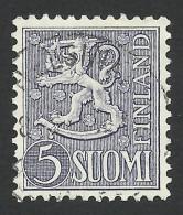 Finland, 5 M. 1954, Sc # 315, Used - Finland