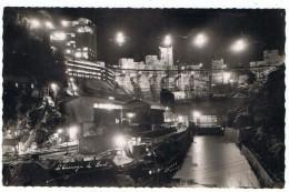 Barrage De Bort   Construction Pendant La Nuit   1952 - Châteaux D'eau & éoliennes