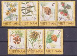 62-185 B //  VIETNAM  -  1986  RARE  PLANTS   Mi  1760/66 O - Heilpflanzen