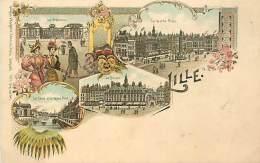 N-16 1437 : SOUVENIR DE LILLE   CARTE ILLUSTREE EDITION SEUGHAL & MAGDELIN. GENRE KUNZLI - Lille