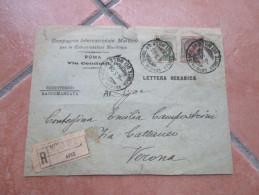 6.5.1926 Raccomandata Da Genova Per Verona Su Modello LETTERA OCEANICA Comp.Int.Marconi Roma - 1900-44 Vittorio Emanuele III