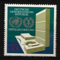 Allemagne DDR 1973 N° 1570 ** ONU, Nation Unies, Architecture, Droits De L'homme, Paix, Sécurité, Economie, Armée - [6] Democratic Republic