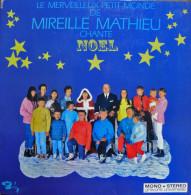 * LP *  LE MERVEILLEUX PETIT MONDE DE MIREILLE MATHIEU CHANTE NOEL (france 1968) Pop-up Cover - Kerstmuziek