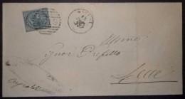 ANNULLI NUMERALI PUGLIA: NUMERALE OSTUNI Lecce - 1861-78 Vittorio Emanuele II