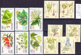 2016-0418 GDR 2 Complete Sets Medical Plants Mi 2287-92, 2691-96 MNH ** - Heilpflanzen