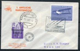 1961 Austria Raketenpost Rocket Mail Wien Luposta Raasdorf Cover - Covers & Documents