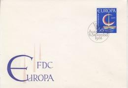 Europa Cept 1966 Liechtenstein 1v  FDC (F5692H) - Europa-CEPT