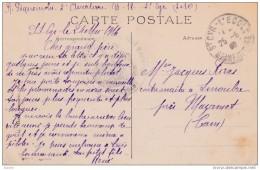 Mai 1916 - CP En Franchise Militaire De St Cyr L' Ecole Vers Linoubre, Mazamet - Vue Monoplan Morane-Saulnier - Aviation - Francia