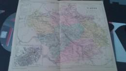 Carte Géographique .......Département De L´ AUBE - Cartes Géographiques