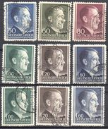 Poland - Generalgouvernement -  1942/44 Mi 83-88A+B  Gestempelt /used - General Government