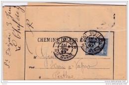 1905 - Lettre D'Avis Des Chemins De Fer De L'Est  De Rouilly Geraudot à Lusigny, Ambulants St Dizier-Troyes - Francia