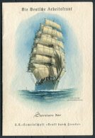 1936 (21/6) Germany Ship Menu Programme Tagesgestaltung Speisenfolge Dampfer STUTTGART, Norwegenfahrten, Norway Cruise - Menus