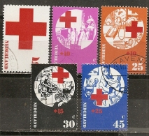 Pays-Bas Netherlands 1972 Croix-rouge Red Cross Set Complete Obl - Periode 1949-1980 (Juliana)