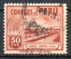 PERU' 1949 - Casa Dei Lavoratori,  Lima. 50c.  Usato - Scott. 429-A158 - Peru