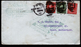 A4262) US Advertising Cover From New York 05/06/1902 To Basel / Switzerland - Vereinigte Staaten