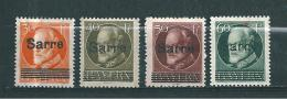 Colonie Sarre Occupation Francaise Timbres De 1920   N°23 A 26  Neufs * - Neufs