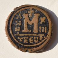 BYZANTINE Maurice TIBERE (582 602) Follis Atelier De Theoupolis (Antioche) - Byzantinische Münzen