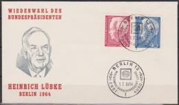 Berlin FDC 1963 Mi-Nr.234 - 235 Bundespräsident Heinrich Lübke ( D 2041  ) - Berlin (West)