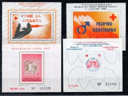 MACEDOINE   Timbres Neufs ** De 1995 / 6 ( Ref 4002  )  Bienfaisance - Macédoine