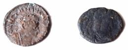 Byzantine Lot De 2 Monnaies De Constantin 1er Et Constance II (351-354) - Byzantinische Münzen