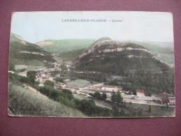 CPA 39 LAVANS LES SAINT CLAUDE Lizon RARE PLAN COLORISé SUR LA GARE DE LIZON 1915  Canton SAINT LUPICIN - Autres Communes