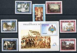 Bi-centenaire De La Révolution Française  Guinée Bissau   514/520  ** +  Bloc 67   ** - Franz. Revolution