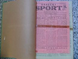 OSJECKI SPORT 1933-1940  40 PIECES,START 1953, ZAGREBACKI SPORTSKI LIST... BANDED - Livres