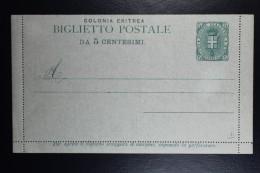 Italia: Colonia Eritrea  Biglietto Postale Mi Nr 1 - Eritrea