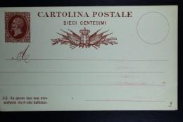 Italia: Cartolina Postale Mi Nr 3 Unused - 1861-78 Victor Emmanuel II.