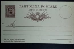 Italia: Cartolina Postale Mi Nr 12 Unused   1887 - Postwaardestukken