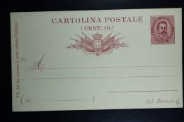 Italia: Cartolina Postale Mi Nr 17 Unused   1889 - Postwaardestukken