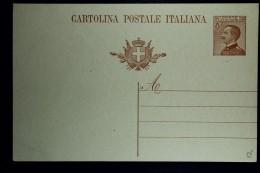 Italia: Cartolina Postale  Mi  P 56 B I   Not Used 1922 - Postwaardestukken